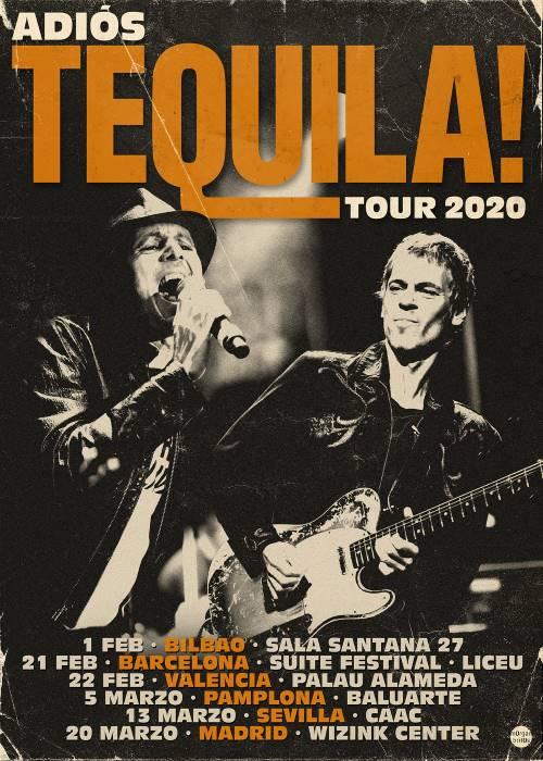 Tequila anuncia nuevos conciertos para 2020