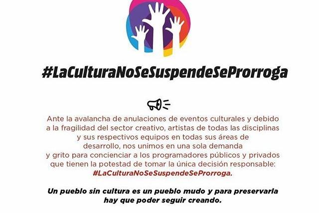 «La cultura no se suspende, se prorroga»